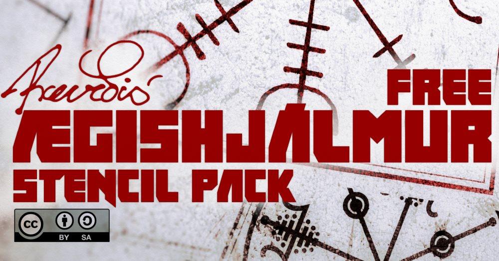 Ægishjálmur Stencil Pack